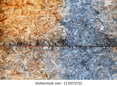 Photo of a macro background of a wall of old wood