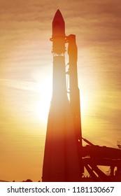 Photo of a macro gorgeous rocket at sunset illumination