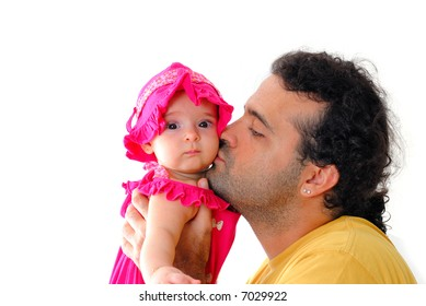 Photo of Man kissing sweet Baby .