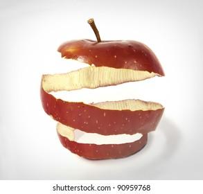 photo manipulation of apple skin
