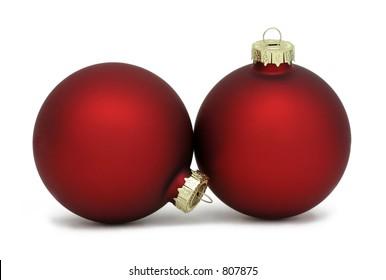 Photo of matte red Christmas balls