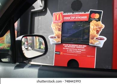 Photo for McDonald Drive Thru  machine for fasting service in fast food. Photo taken on October 2017. Photo taken at Kota Kinabalu city, Sabah, Malaysia.