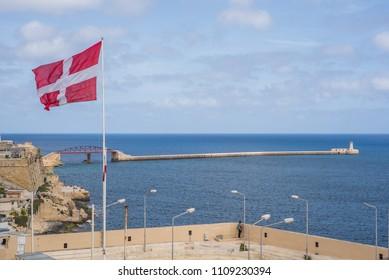 Photo of Mediterranean sea, view from Lower Barrakka Garden, Valletta, Malta