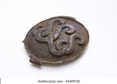 Photo of the metallic historical pin
