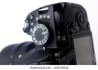Photo of a mode dial of a DSLR camera