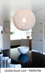Photo of a modern interior designer dining room