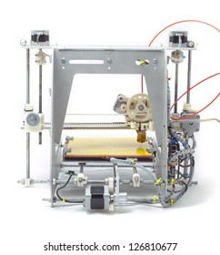 Photo of modern machine. 3 D printer