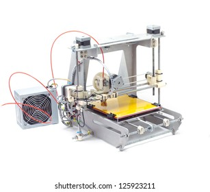 Photo of modern machine. 3-D printer
