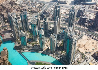 Photo Of Modern Skyscrapers In Dubai, UAE