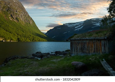 Photo from the mountain lake at Traudalen,Norway
