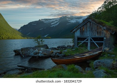 Photo from a mountain lake at Vestland,Norway