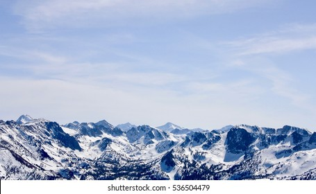A photo of mountains covered in snow I took in Mammoth California.