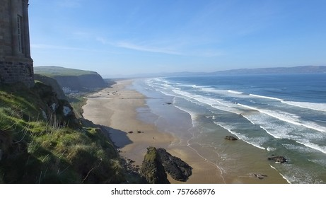 A photo of Mussenden Temple benone beach Co Derry Londonderry Northern Ireland