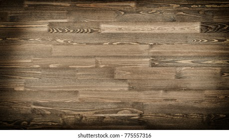 photo of natural wood for background or texture, dark brown color