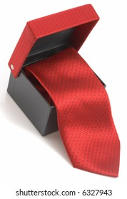 photo of a necktie over a white background