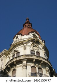 Photo of a neoclassic detail of a palace in Budapest the capital of Hungary.
