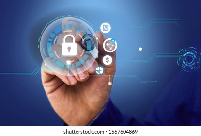 photo of network system in modern technology smart gadget device. Illustrated picture icon symbol of schemed networking telecommunications information technical knowledge