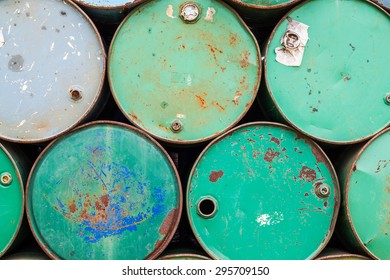 The Photo of Oil barrels background texture