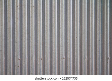 a photo of old corrugated metal for  texture or background