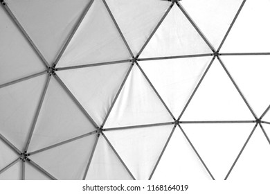 Photo of old geometric triangles white and black background