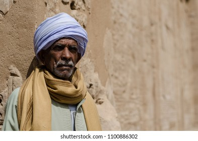 A photo of an old traditional man in Aswan, Egypt. February 2017