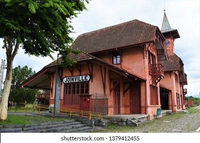 Photo of old train station of Joinville, Brazil