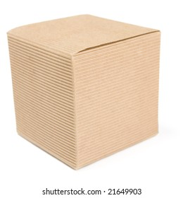 a photo of one gift box over white