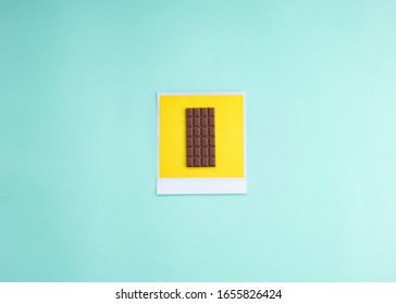 photo of an ounce of chocolate in pastel tones