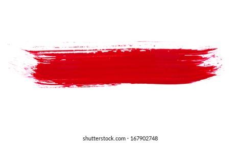 Photo - paint brush texture isolated on white