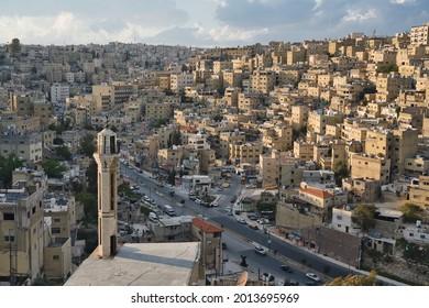 Photo of the panorama of Amman in Jordan