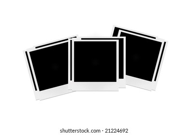 photo papers on white