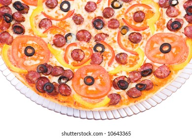 photo of a part of Sausage Pizza