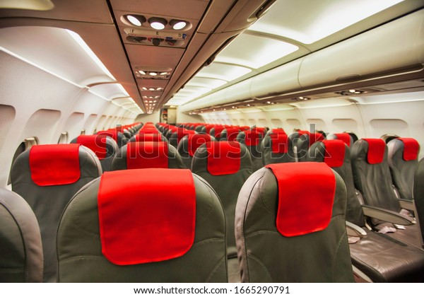 Photo of passenger seats in side the plane