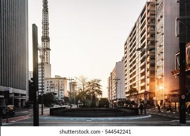 Photo of Paulista Avenue in Sao Paulo, Brazil
