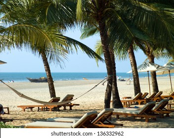 Photo perfectly beautiful beach Palolem in Goa in India