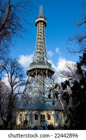 Photo of Petrin outlook tower in Prague in Czech republic
