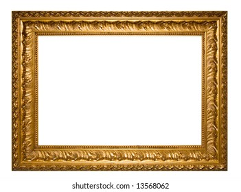 A photo of picture frame, isolated on white
