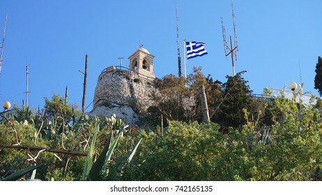 Photo from picturesque chapel of Saint John, Lycabettus hill, Attica, Greece