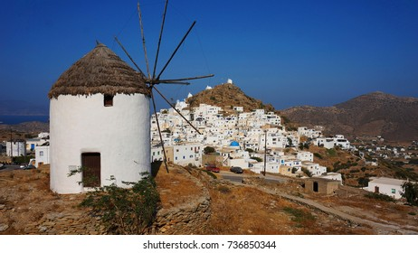 Photo from picturesque chora of Ios island with traditional architecture, Cyclades, Greece