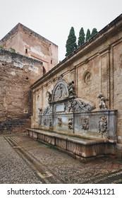 Photo of the pilar of Carlos V - Alhambra, Granada, Spain