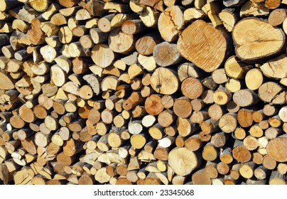 A photo of a pile of wood