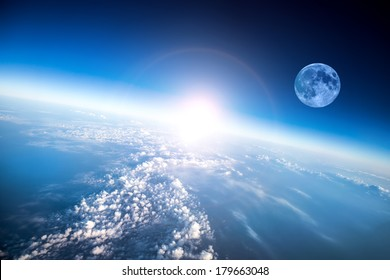 Photo Planet Earth aerial view