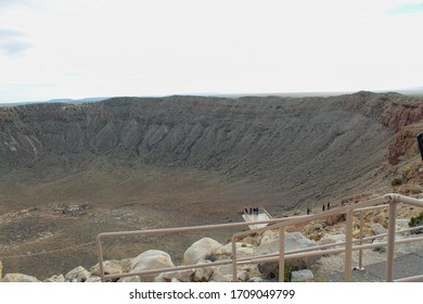 Photo platform over The Metor Crater to take amazing photos