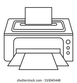 Photo printer icon. Outline illustration of photo printer  icon for web