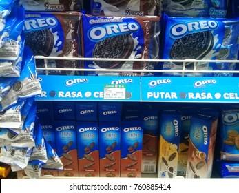 Photo for product Oreo biscuit selling on the market . Photo taken on November 2017 using mobile Phone, Photo taken at Servay Hypermarket, Kota Marudu, Sabah, Malaysia.