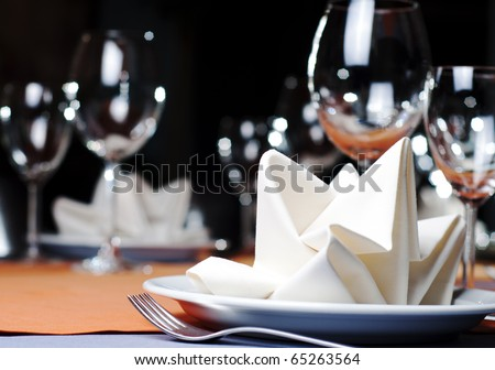 photo of professional restaurant serving