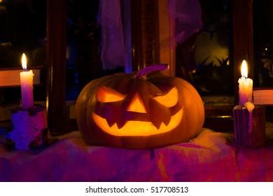 Photo pumpkins for Halloween. All Saints' Day. Halloween Feast