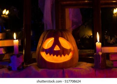 Photo pumpkins for Halloween. All Saints' Day.