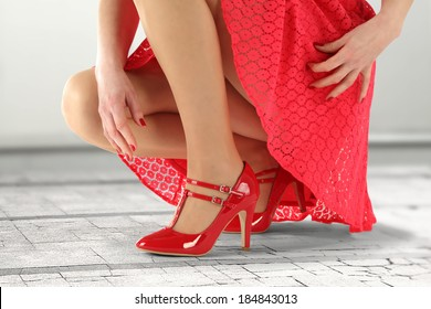 photo of red skirt