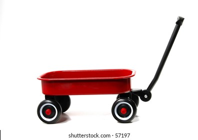 Photo of a Red Wagon